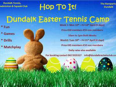 Dundalk Easter Tennis Camp
