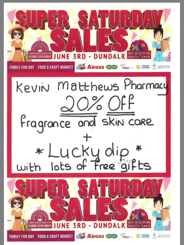Kevin Matthews Pharmacy special offer