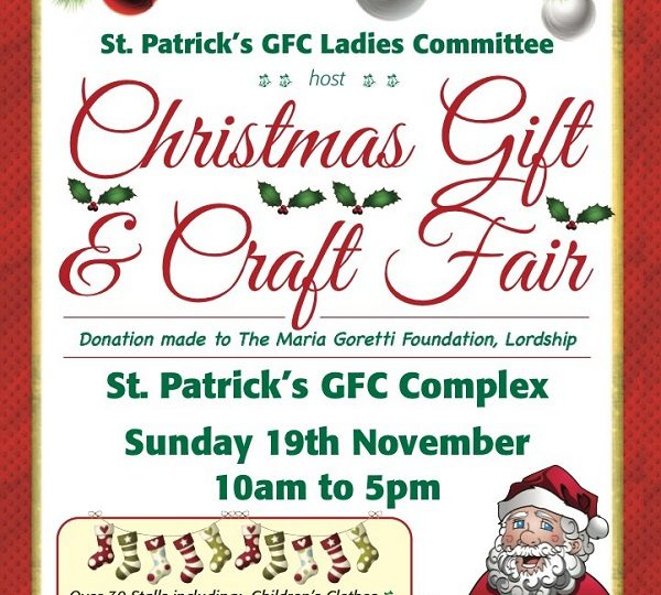 St. Patricks GFC Christmas Craft and Gift Fair