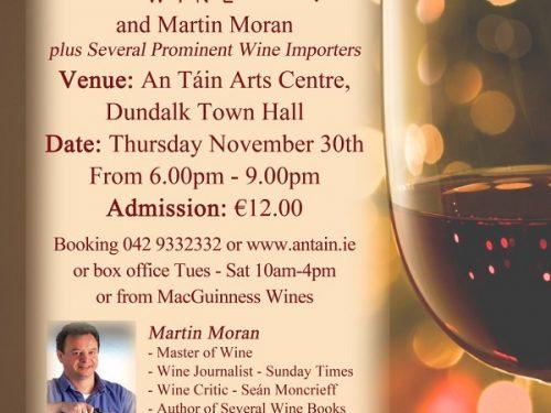 MacGuinness Wines Dundalk November 2017 wine