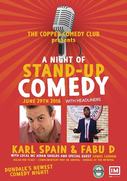 Copper Comedy Club presents KARL SPAIN & Fabu-D ~ The Imperial Hotel