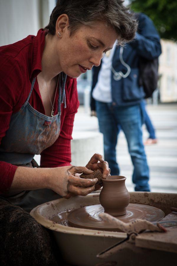 Bairbre Kennedy from Lichen Ceramics super saturday 2018 Dundalk