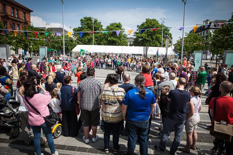 Super Saturday 2018 Táin March festival Market Square Dundalk