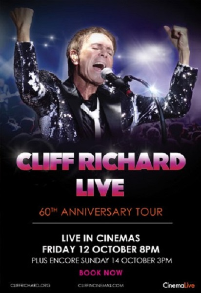 Cliff Richard Live: 60th Anniversary Tour ~ Friday 12th October