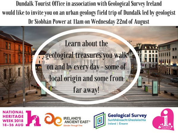Urban Geology Field Trip of Dundalk ~ 11am 22nd August
