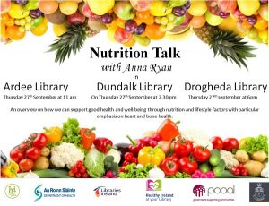 27 Sept | Heart & Bone Health Nutrition Talk ~ Dundalk Library