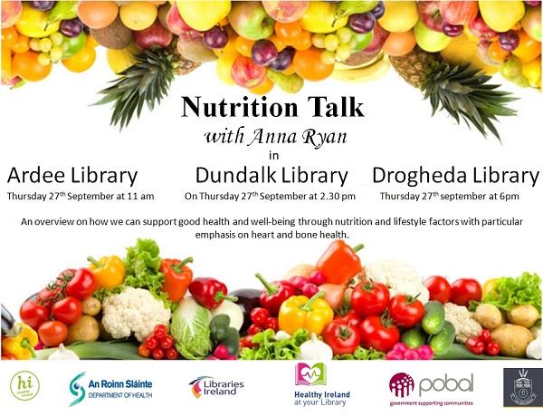 27 Sept | Heart & Bone Health Nutrition Talk ~ Dundalk Library