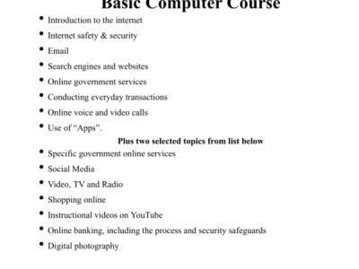 Dundalk Library Computer Skills