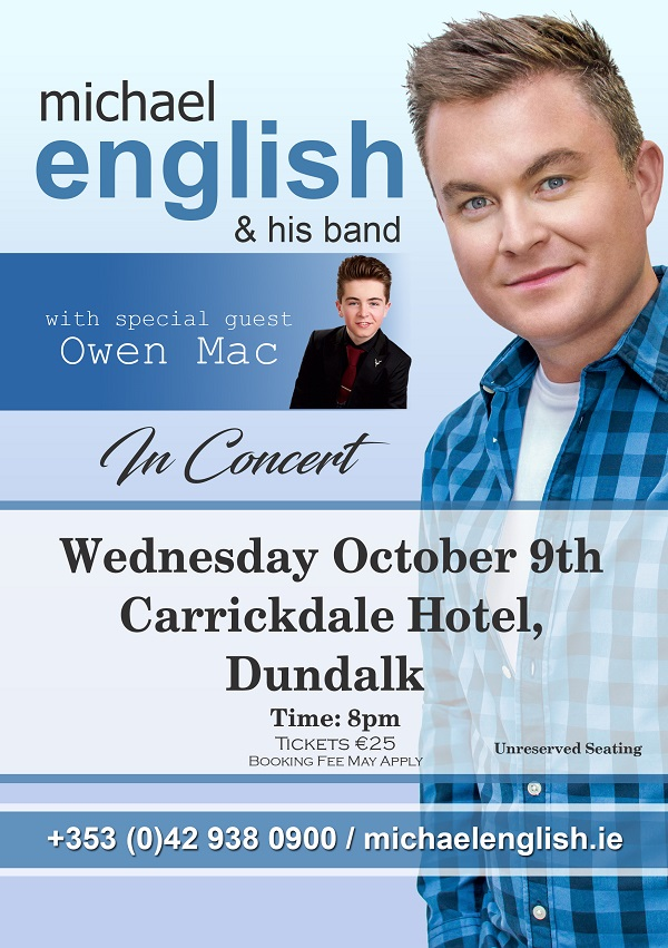 Music | Michael English in Concert~ Carrickdale Hotel & Spa