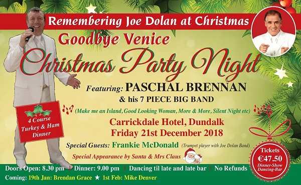 Music | Goodbye Venice Remembering Joe Dolan ~ Carrickdale Hotel & Spa