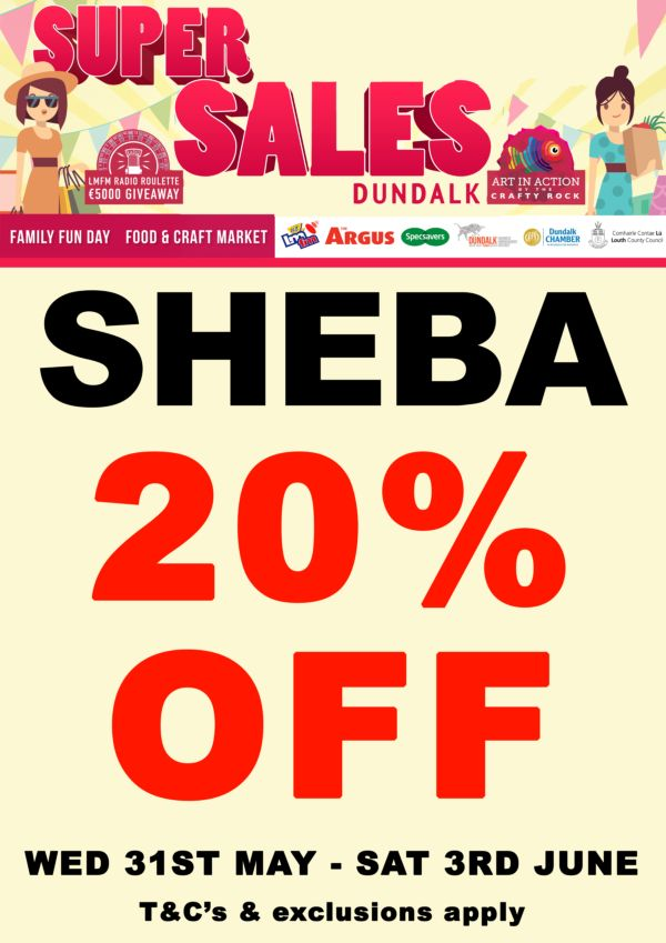 Sheba Boutique Dundalk sale poster
