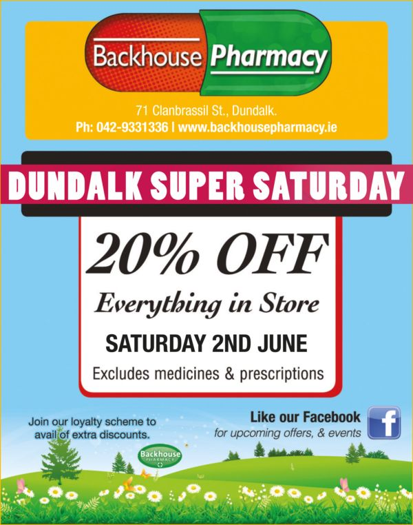 Backhouse Pharmacy Dundalk Super Saturday 2018