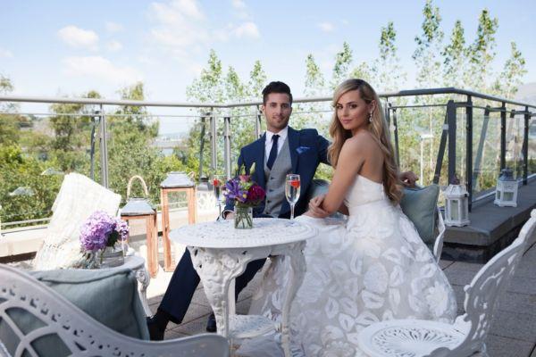 Summer June Wedding on the balcony
