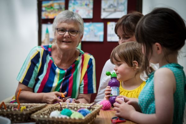 Dundalk Super Saturday Brenda Leary The Crafty Rock at Art in Action workshops in An Táin Arts Centre