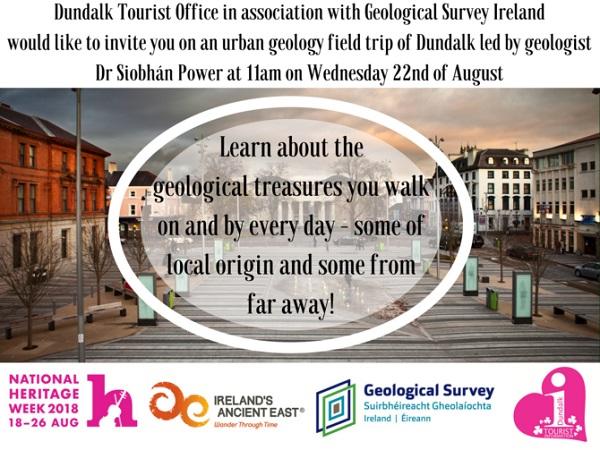 Urban Geology Field Trip of Dundalk ~ 11am 22nd August