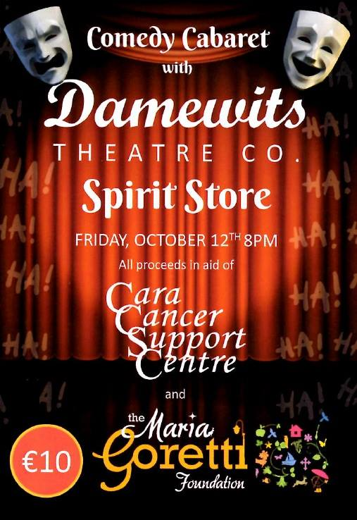 Damewits Theatre Company ~ The Spirit Store Friday 12th October