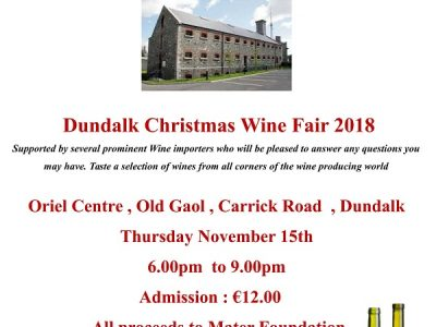Dundalk Christmas Wine Fair 2018 ~ Oriel Centre Dundalk Goal