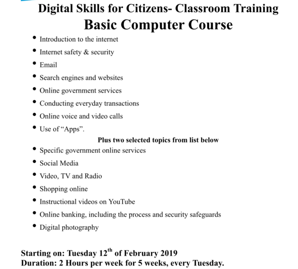 Digital Skills for Citizens in Dundalk Library