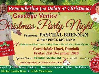 Music | Goodbye Venice Remembering Joe Dolan ~ Carrickdale Hotel & Spa