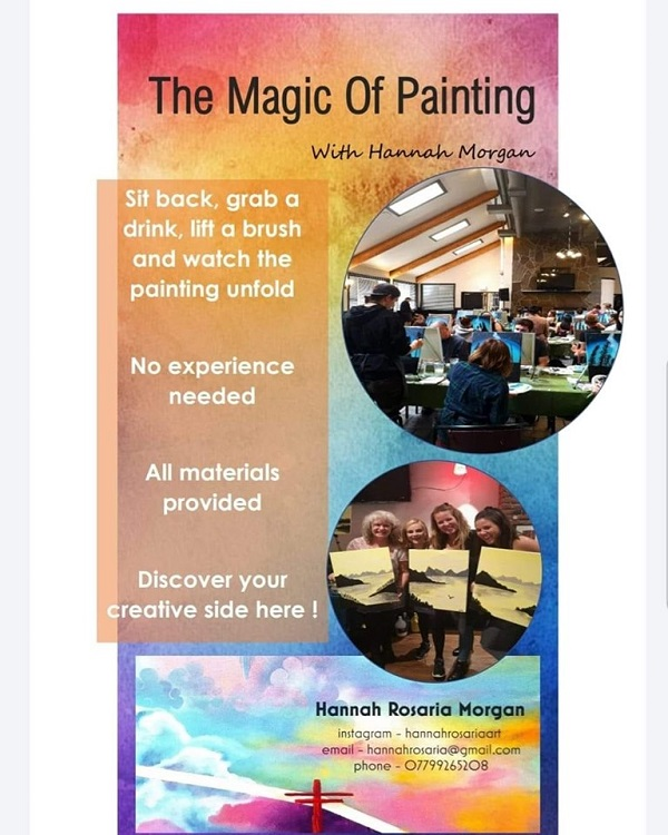 "Events |""The Magic Of Painting"" With Hannah Morgan ~ The Spirit Store Wednesday 20"