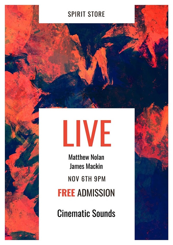 Music | James Mackin & Matthew Nolan ~ Wednesday 6 November